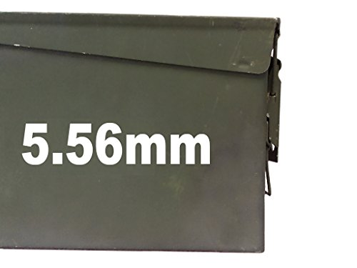 """FGD 5.56mm Ammo Box Label Set (Decals) Two 6.""""x 1.5"""" One 3""""x0.75"""" (Labels Only Ammo Can NOT Included)"""