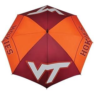 Buy NCAA Virginia Tech Hokies 62-Inch WindSheer Hybrid Umbrella by Team Effort