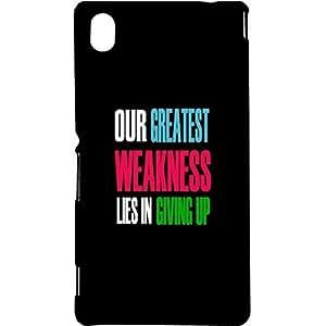 Casotec Motivational Quote Design Hard Back Case Cover for Sony Xperia M4 Aqua
