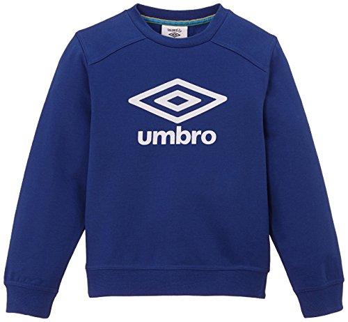 Umbro Athletic Crew - Pullover sportivo, da ragazzo, Blu (Oltremare), FR : 17 anni (Taglia del produttore : 174)
