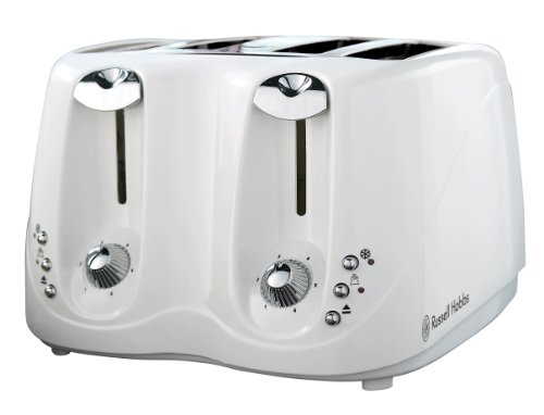 Russell Hobbs 13899 4-Slice Compact Toaster in White and Chrome from Russell Hobbs