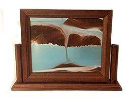 8x10-Sandscape-Southwest Sand Picture-Mahogany Finish Frame