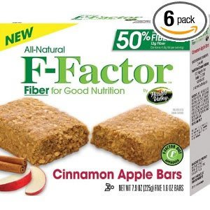 Health Valley F-Factor Cinnamon Apple Bar, 7.9-Ounce (Pack of 6) ( Value Bulk Multi-pack)