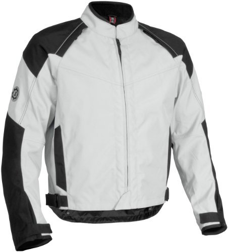 Firstgear Rush Tex Men's Textile Motorcycle Jacket (Silver, X-Large)