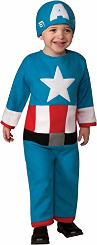 [Mememall Fashion Boys Child The Avengers Captain America Costume JumpSuit Toddler 2-4] (Captain Flint Costume)