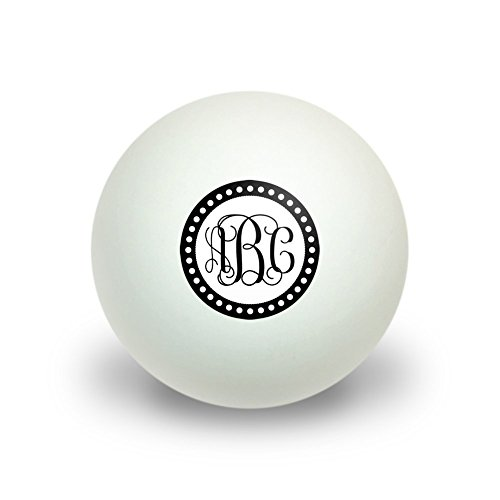 Graphics and More Personalized Custom Novelty Table Tennis Ping Pong Ball 3 Pack - Monogram Fancy Font Scalloped Outline (Personalized Ping Pong Balls compare prices)