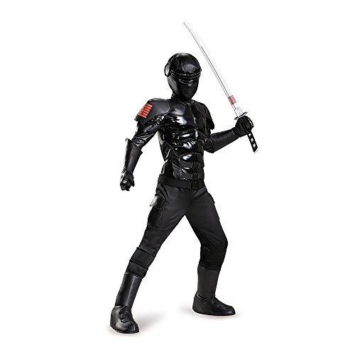 [Gi Joe Snake Eyes Prestige Costume for Kids by Disguise] (Gi Joe Snake Eyes Costume Kids)