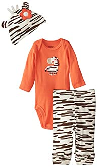 Gerber Baby-Girls Newborn 3 Piece Bod…