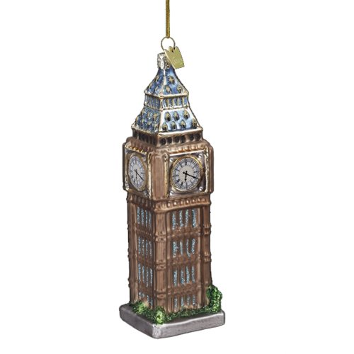 Kurt Adler 5-1/2-Inch Noble Gems Glass Big Ben Ornament kurt adler 5 1 2 inch noble gems glass big ben ornament