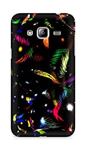 AMEZ designer printed 3d premium high quality back case cover for Samsung Galaxy J3 (2016 EDITION) (colourful black pattern)