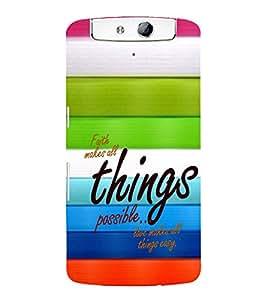 EPICCASE Faith and love Mobile Back Case Cover For OPPO N1 (Designer Case)