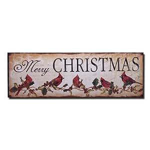 Adeco decorative wood wall hanging sign for Christmas wall art amazon