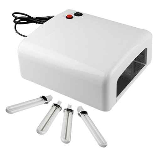 Image® 36 Watt Ultraviolet Nail Acrylic Gel Curing Lamp Light Dryer With Us Plug(White)
