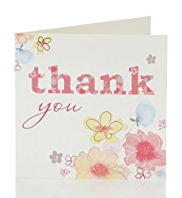 Thank You Floral Multipack Cards