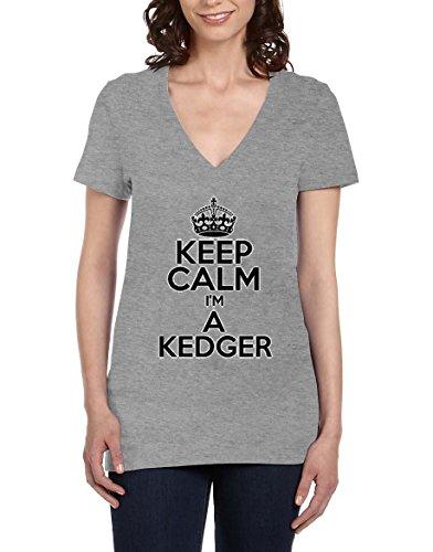 keep-calm-im-a-kedger-womens-v-neck-t-shirt-xx-large