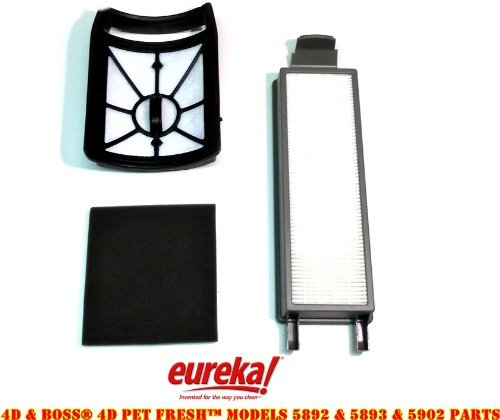 Eureka 4D Boss, Pet Fresh Bagless Upright Filter Kit. Fits 5892AVZ, 5892BVZ, 5893AVZ, 5893BVZ, 5902AVZ, 5902BVZ (Eureka Filter Hf5 compare prices)