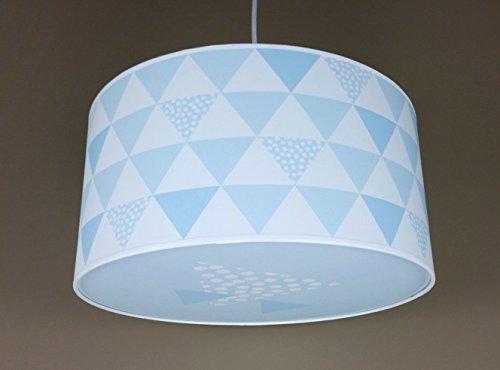 Luminaire enfant/lampe de plafond/Suspension Blanc avec Triangle ...