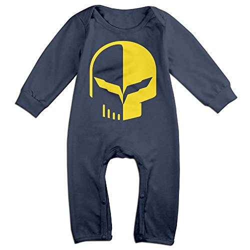 HOHOE Newborn Babys Car Logo With Punisher Skull Symbol Long Sleeve Romper Bodysuit Outfits Navy 18 Months (Bose Silverado Speakers compare prices)