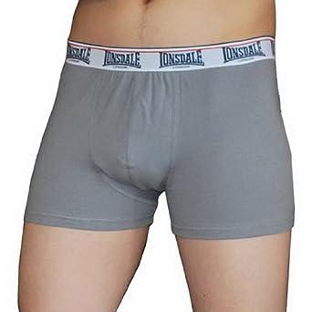 Amazon.com: Mens Lonsdale Grey Dri-Fit Athletic Boxer Shorts