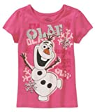 Disneys Frozen Olaf Sparkle Tee - Pink (4T)