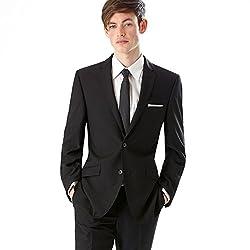 Raymond's Black All Wool Suit Fabric Un Stitich Fabrics , Men'S Suit Materials