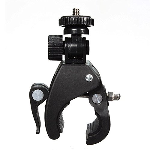"Ninth-City Motorcycle Bike Bicycle Handlebar Mount 1/4"" Screw Clip Clamp Bracket Tripod For Camera"
