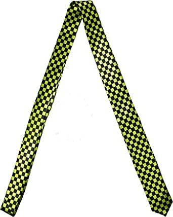 Outer Rebel Black and Lime Green Check Skinny Tie