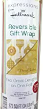 Huge Roll  GOLD  Reversible Christmas Wrap  375 Sq Ft