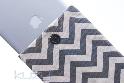 =>>  Kuzy - 13-inch GRAY Chevron Cotton Sleeve Handmade Cover for MacBook Pro 13-Inch (with or w/out Retina Display) and MacBook Air 13-Inch - Gray 13.3-inch