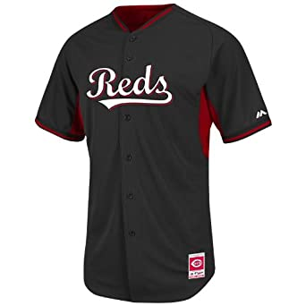 Brandon Phillips Cincinnati Reds Black Cool Base Batting Practice Jersey by Majestic