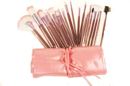 22pcs Professional Cosmetic Makeup Brush Set with Pink Bag Pink