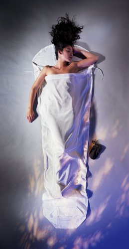 Cocoon Silk-Cotton MummyLiner (Natural, 95-Inch x 35/22-Inch)