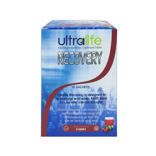 Ultralife Recovery 105 g Cherry Muscle and Energy Repair Drink Powder Sachets - Box of 10