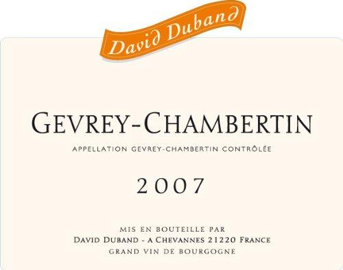 2007 Domaine David Duband Gevrey-Chambertin 750 Ml