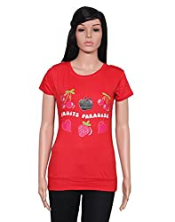 Ninelions fashions Red colour cotton top summer wear