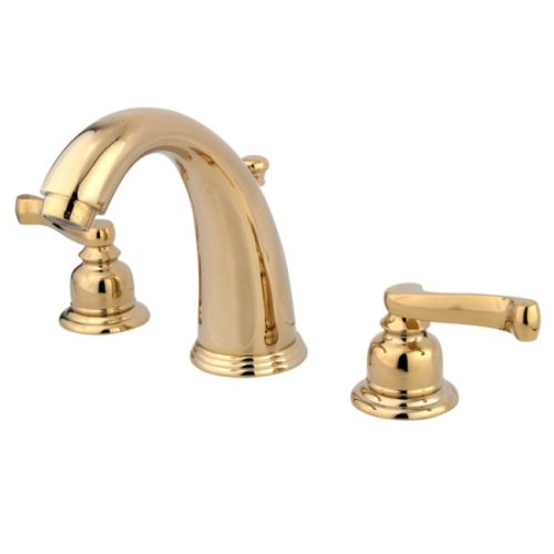 Brass Lavatory Faucet : Kingston Brass KB982FL Royale Widespread Lavatory Faucet with Brass ...