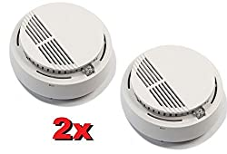 2x Smoke Alarm Fire Indicator Pair of Cordless Smoke Detector Flash Photoelectric by my_workshop2001