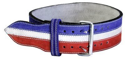 Ader-Leather-Power-Weight-Lifting-Belt-4-Red-White-Blue