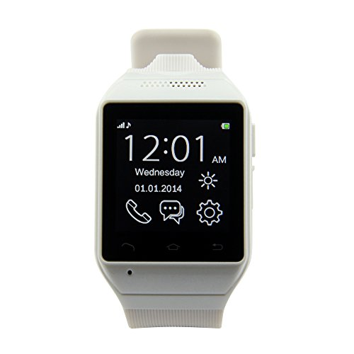 """Lemfo® Zgpax S19 Bluetooth Smart Watch Phone Wristwatch 1.54"""" Touch Screen Gsm Support Sim Tf Camera Smartwatch For Android Cell Phones Sync Sms Call History App Notification (White)"""