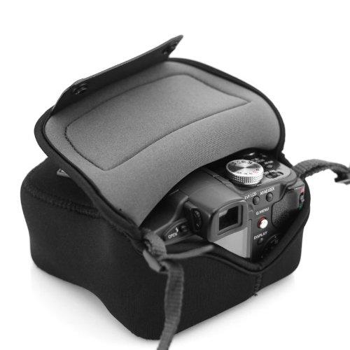 USA Gear Custodia Borsa per Fotocamera Digitale SLR con Neoprene anti-intemperie , Tasca per Accessori - Adatta a Canon EOS 1300D , 100D / Nikon D3300 / Pentax e altri