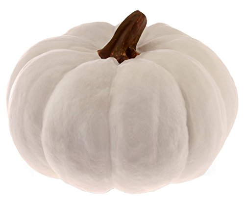 Boston International Pumpkin Decorative Table Accent, Small, White