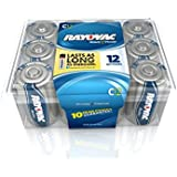 Rayovac Alkaline Reclosable Pro Pack C Batteries, 814-12PP, 12-Pack