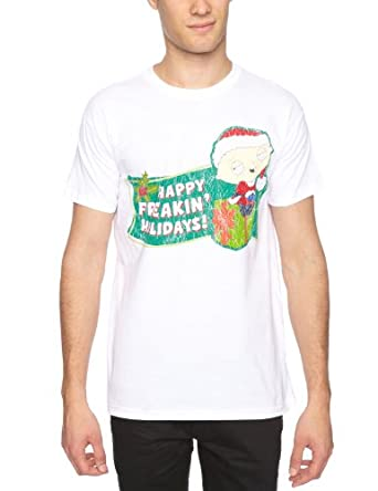 Bravado - Family Guy Freekin Holidays - T-Shirt - Homme - Blanc (White) - FR: Small (Taille fabricant: Small)