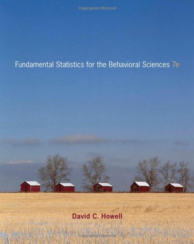 Fundamental Statistics for the Behavioral Sciences, 7th...