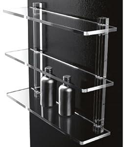 Mensole da bagno in plexiglass con supporti trasparenti arredo bagno o cucina design - Mensole bagno plexiglass ...