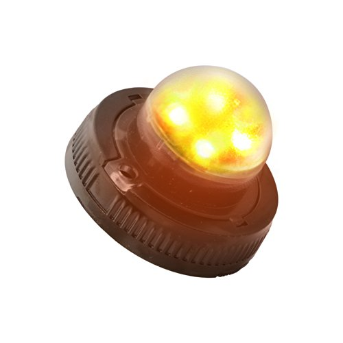 Lamphus Snakeeye Ii-4W Emergency Vehicle Construction Tow Truck Surface Mount 4W Led Hide-Away Strobe Warning Light ( Other Color Available ) - Amber