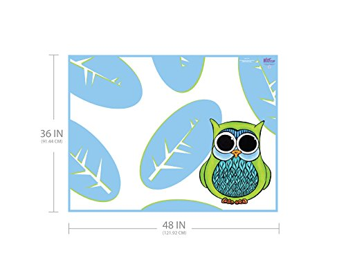 KidKusion High Chair Splat Mat, Owl