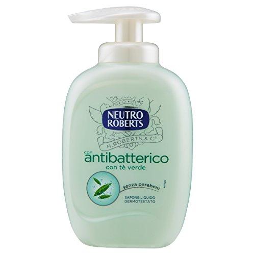 Neutro Roberts - Sapone Liquido, Con Antibatterico con Tè Verde, Igiene Delicata - 300 ml