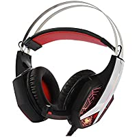 ROSE AULA Stereo Gaming Headset Computer Headphone With Microphone USB Power Colorful LED Lights Volume Control... - B01GZL0I9K