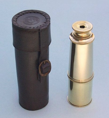 16-Inch Brass Telescope With Leather Case